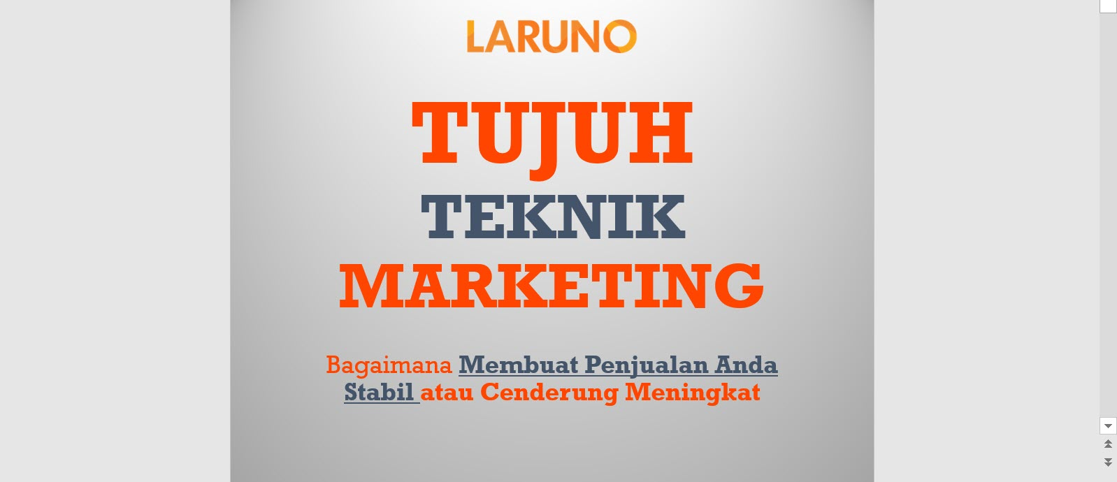 7 Teknik Marketing Part-1 [Video]